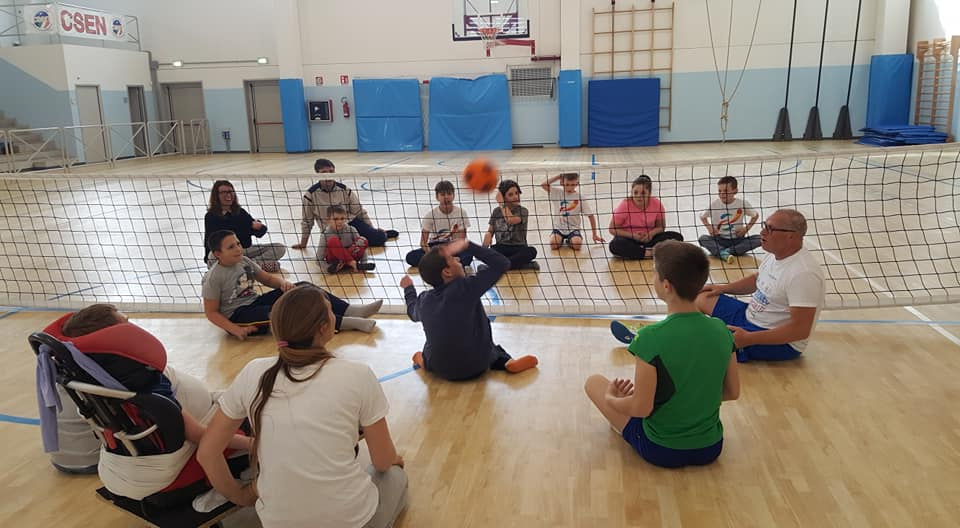L'incontro di sitting volley